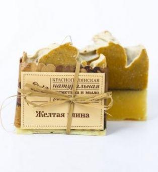 """Мыло для увядающей кожи """"Глина желтая"""",  100 гр"""