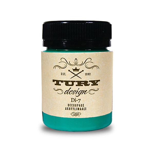 Краска акриловая Tury Design Di-7 цвет:персидский зелёный 17-33 60 гр.