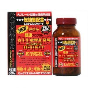 """JFC """"New All Stars Diet"""" – комплекс жиросжигателей для ультрабыстрого похудения 600 гранул"""