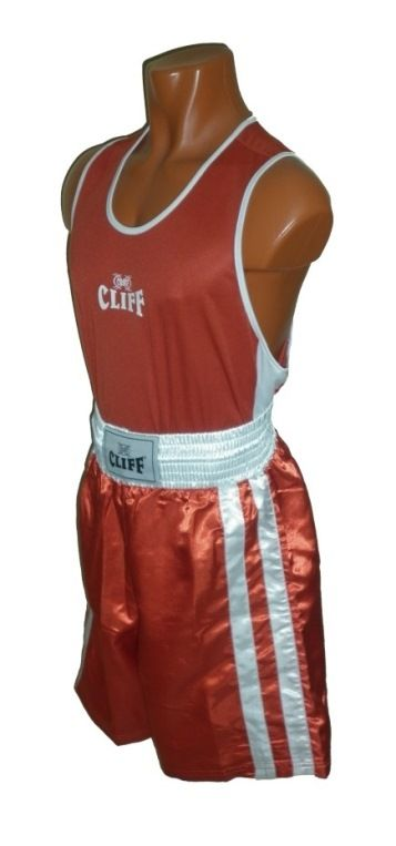 Форма боксёрская КЛИФ красная, размер S