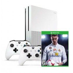 Игровая приставка Microsoft Xbox One S 500GB + игра Fifa 18 + второй геймпад
