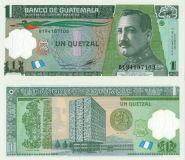 Гватемала 1 кетцаль 2012 полимер unc