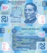 Мексика 20 песо 2013 полимер unc