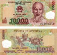 Вьетнам 10000 донг полимер пресс UNC