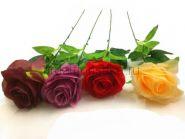 Искусственная одиночная роза (штучная) открытая 60 см.
