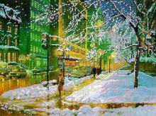Зимний Город. А3 (набор 800 рублей) Картины Бисером S-092