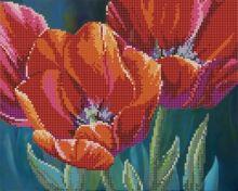 Тюльпаны. А4 (набор 1000 рублей) Картины Бисером S-094