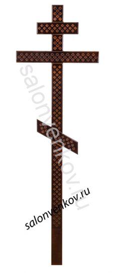 Крест на могилу деревянный сосна Прямой с накладкой 210см