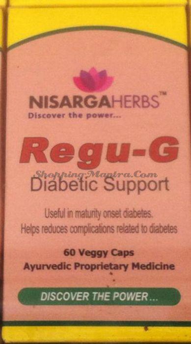 Регу-Г Нисарга Хербс для лечения диабета | Nisarga Herbs Regu-G Capsules