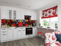 Кухня ПР-02 белое дерево