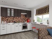 Кухня ПР-02 венге/белое дерево