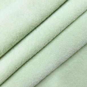 Искусственный мех микрофибра - Нежно-зеленый, 50х37