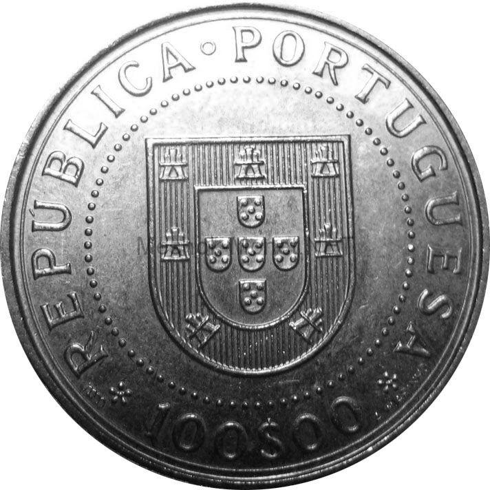 Португалия 100 эскудо 1990 г. 350 лет со дня восстановления португальской независимости.