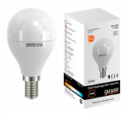Лампа Gauss LED E14 6W 2700K