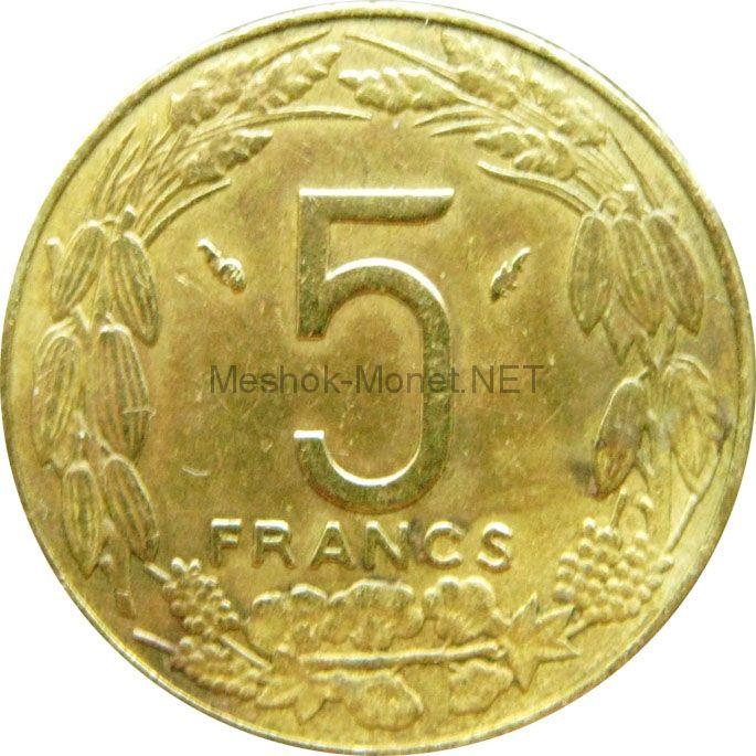 Центральная Африка 5 франков 1975 г.