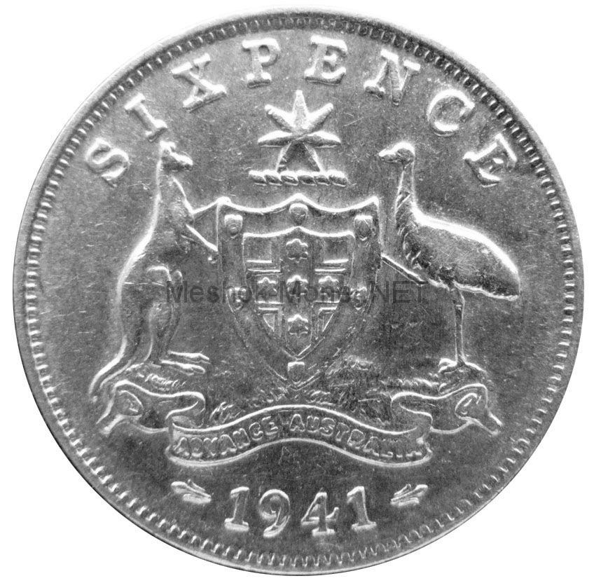 Австралия 6 пенсов 1941 г.