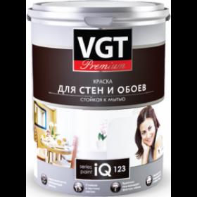 Краска для стен и обоев IQ PREMIUM 123 2л стойкая к мытью ВГТ