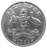 Австралия 6 пенсов 1936 г.