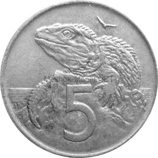 Новая Зеландия 5 центов 1988 г.
