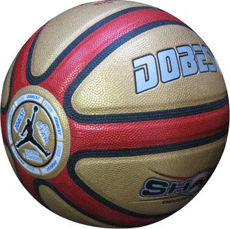 Мяч баскетбольный №7 DOBEST PK-810RG красный/золотой