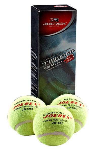 Мяч для большого тенниса JOEREX JO603. 3 штуки.