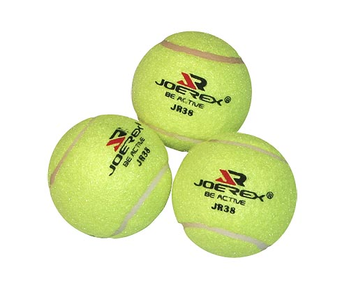 Мяч для большого тенниса JOEREX JR38. 3 штуки.