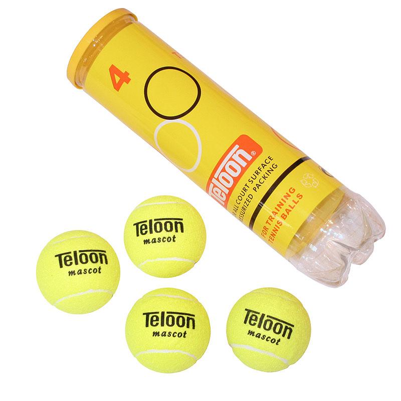 Мяч для большого тенниса TELOON T801P4. 4 штуки.