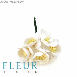 Цветочки вишни Айвори, размер цветка 2,5 см