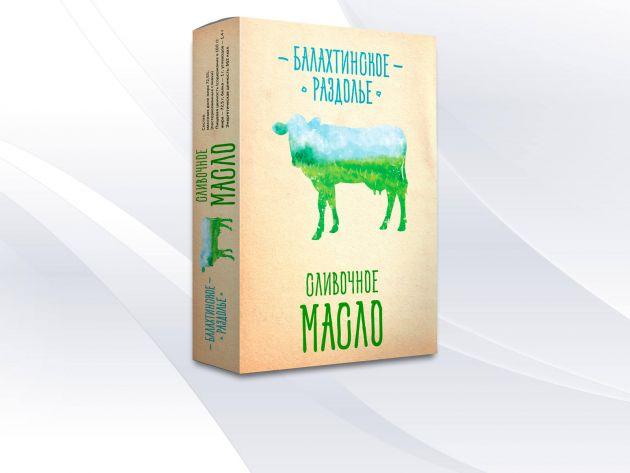 Масло сливочное крестьянское 72.5% 180г  Балахта