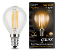 Лампа Gauss LED E14 5W 2700K