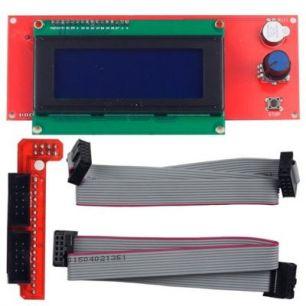 Комплект монитор LCD2004 для Arduino 20x4, конектор rams 1.4, шлейф