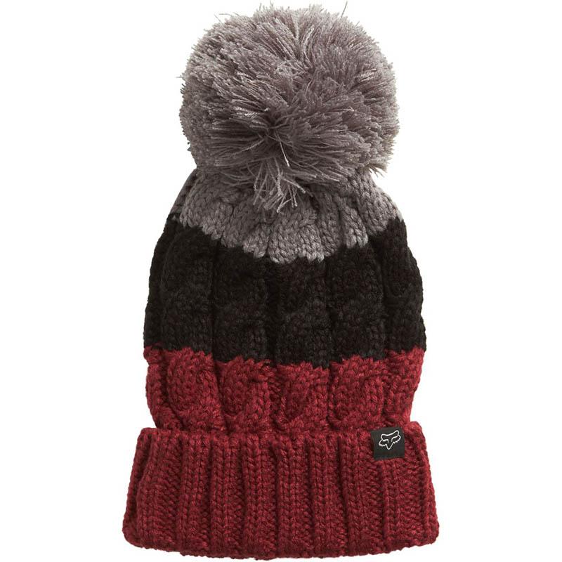 Fox - Valence Beanie Dark Red шапка женская, красная