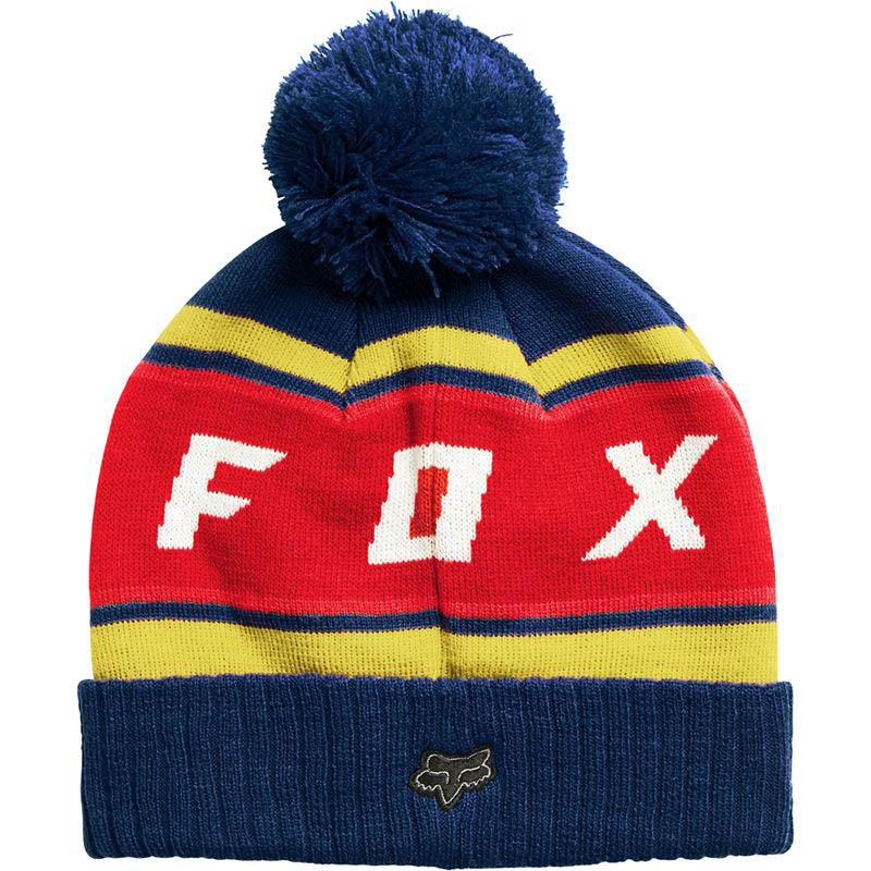 Fox - Black Diamond Pom Beanie Dust Blue шапка, синяя