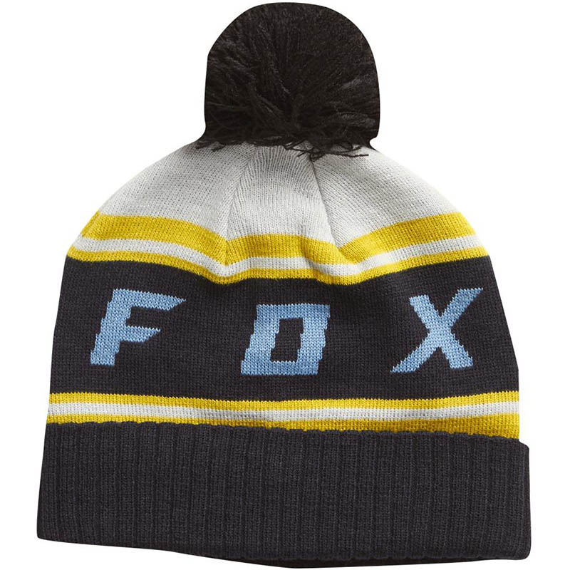 Fox - Black Diamond Pom Beanie Light Grey шапка, серая