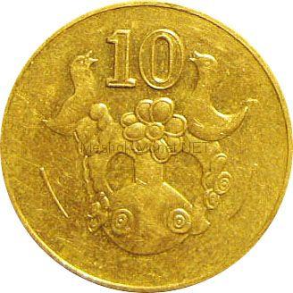 Кипр 10 центов 1990 г.