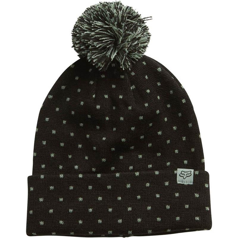 Fox - Snow Bunny Beanie Black шапка женская, черная