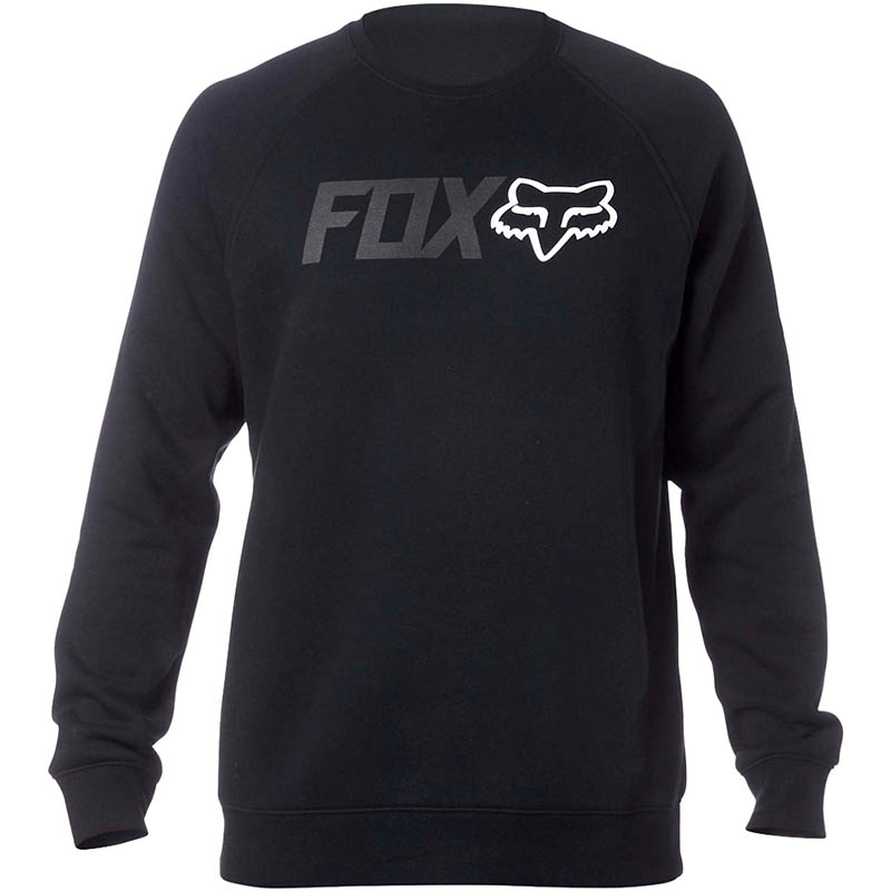 Fox - Legacy Crew Fleece Black свитшот, черный