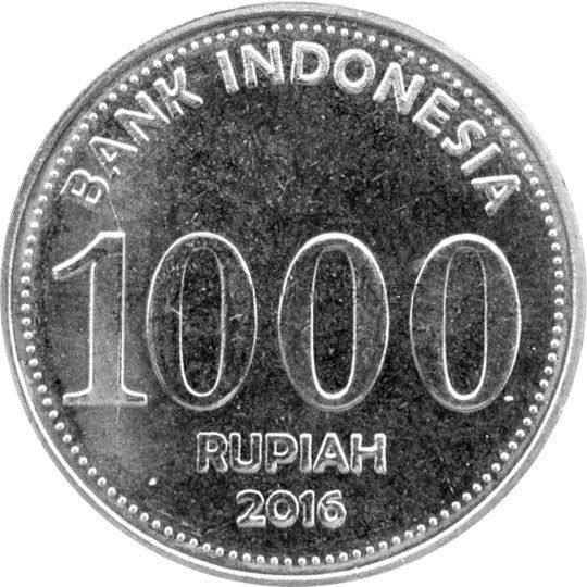 Индонезия 1000 рупий 2016 г.