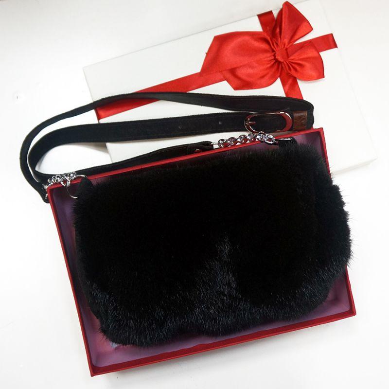 Муфта-сумка из норки