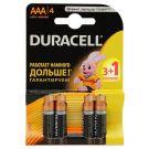 "Алкалиновая батарейка AAA/LR03 ""Duracell"" 1.5v 4 шт."