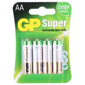 "Алкалиновая батарейка AA/LR6 ""GP Super"" 1.5v 4 шт."
