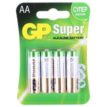 "Алкалиновая батарейка AA/LR6 ""GP Super"" 1.5v 4 шт."