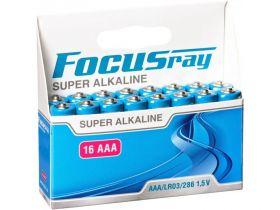 """Алкалиновая батарейка AAA/LR03 """"Focusray"""" 1.5v 16 шт."""