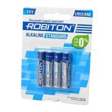 "Алкалиновая батарейка AAA/LR03 ""Robiton"" 1.5v 4 шт."