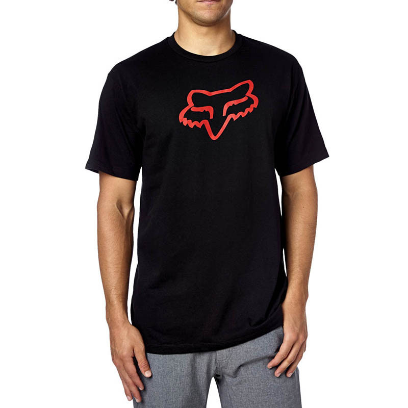 Fox - Legacy Foxhead SS Tee Black/Red футболка, черно-красная