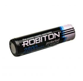 """Литиевый аккумулятор 18650 """"Robiton"""" 2800 mAh 3.7v с защитой"""