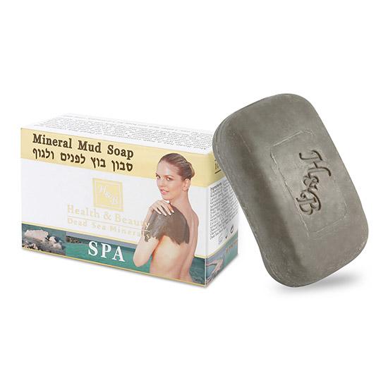 Мыло туалетное твердое с грязью Мертвого моря Health & Beauty (Хэлс энд Бьюти) 125 г