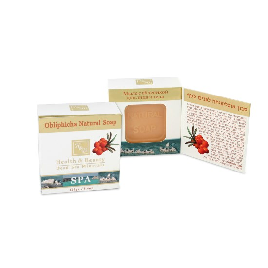Мыло натуральное с облепихой Health & Beauty (Хэлс энд Бьюти) 125 г