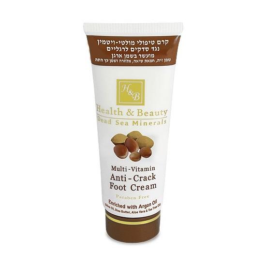 Мультивитаминный крем для ног, против трещин с маслом Аргана Health & Beauty (Хэлс энд Бьюти) 100 мл