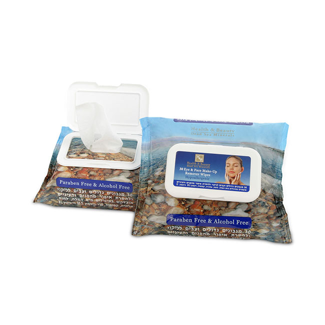 Влажные салфетки для снятия макияжа с лица и области вокруг глаз Health & Beauty (Хелф энд Бьюти) 30 шт